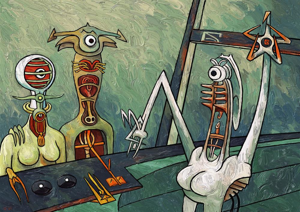 Octrui (Inspired by Roberto Matta) by Art-of-Eric-Wayne