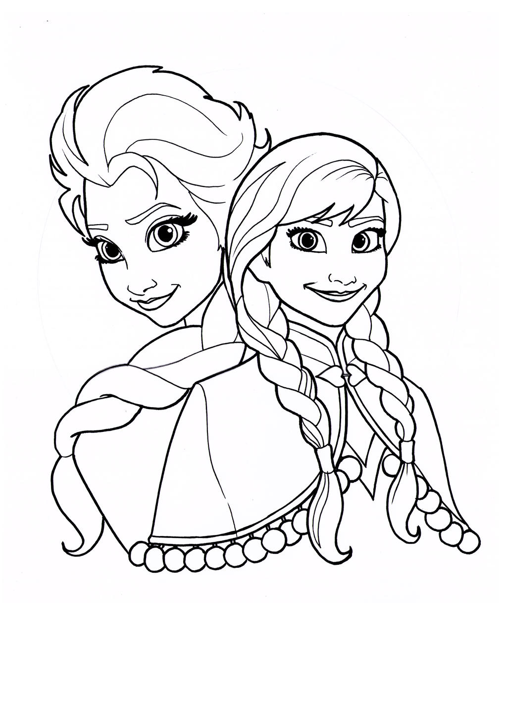 Elsa And Anna Picturesblack And White | Search Results | Calendar 2015
