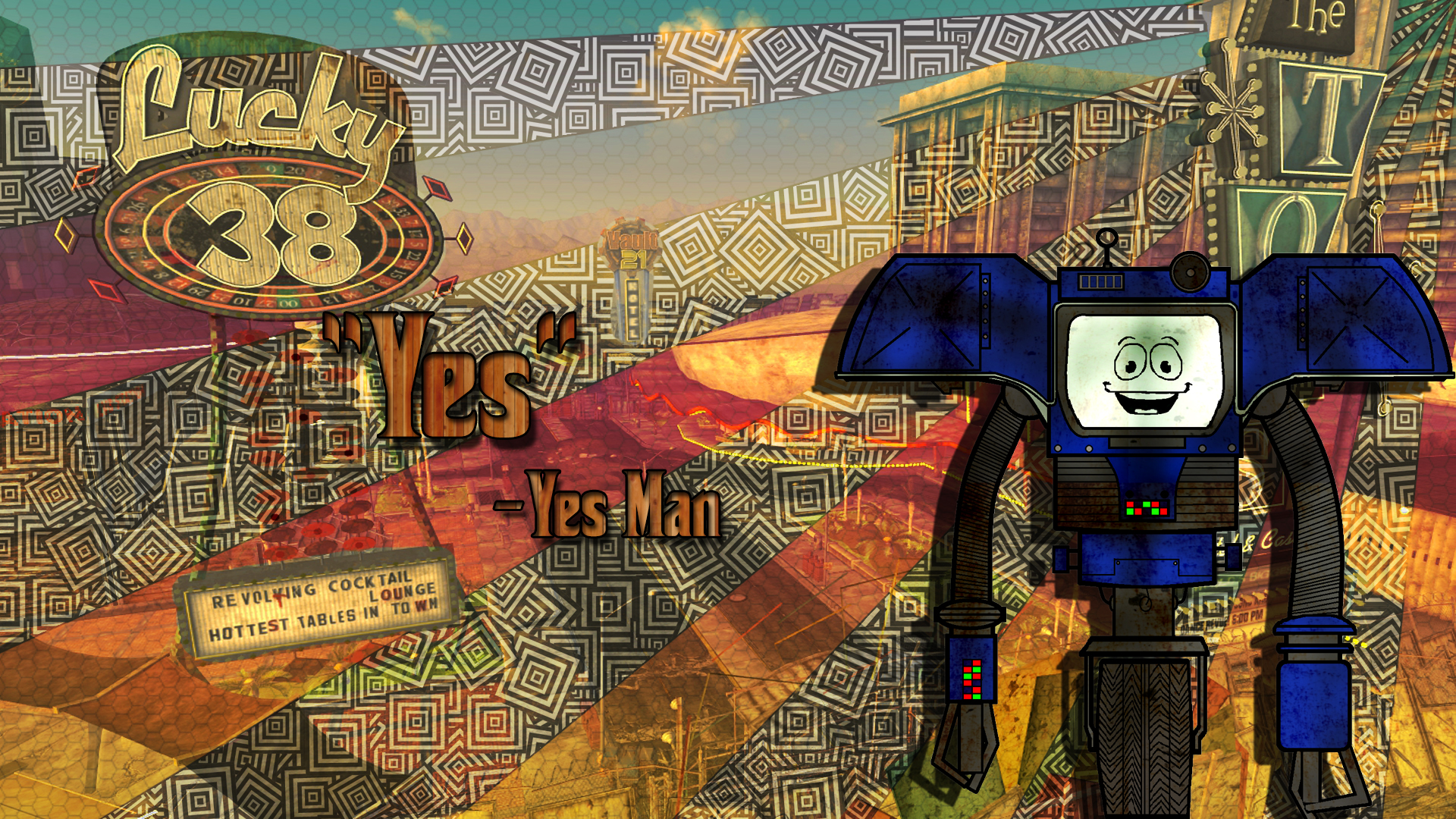 Fallout Yes Man Quote Wallpaper