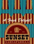 Sunset Sarsaparilla Poster A Fresh Delight