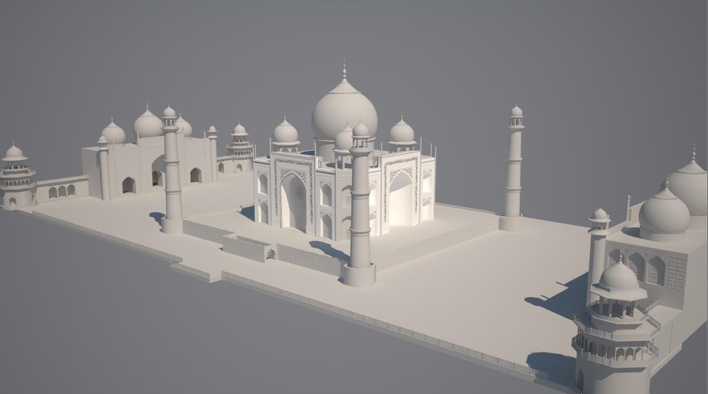 WIP Taj Mahal by luizso