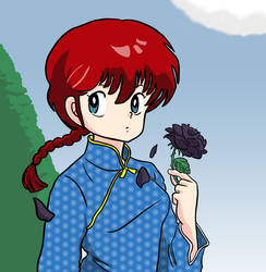 Girl-Type Ranma Ink and Color by tenmazero