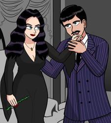 Morticia y Gomez