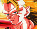 Super Saiyan 3 Goku | Colour Pencil Drawing