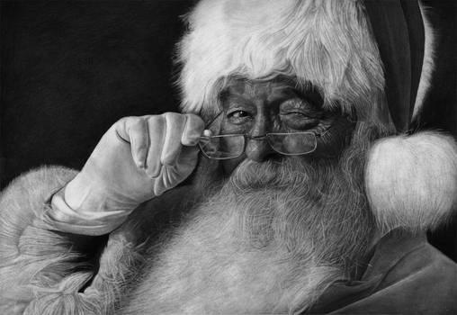 Father Christmas (Santa Claus)   Pencil Drawing