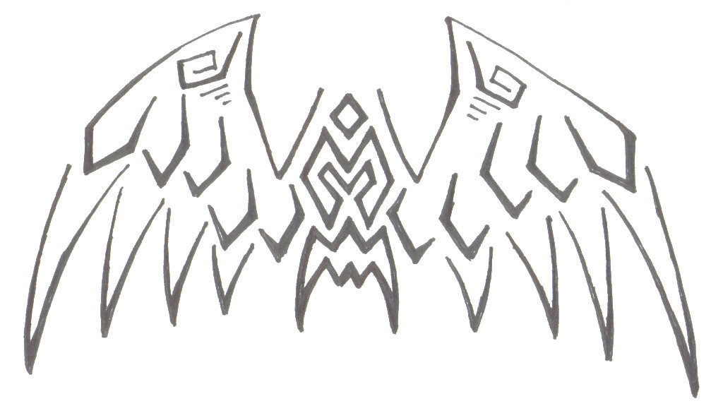 Tribal wings by SilentShadows on deviantART