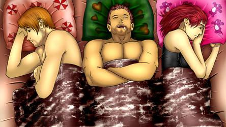 Leon, Chris e Claire by cleberxxx