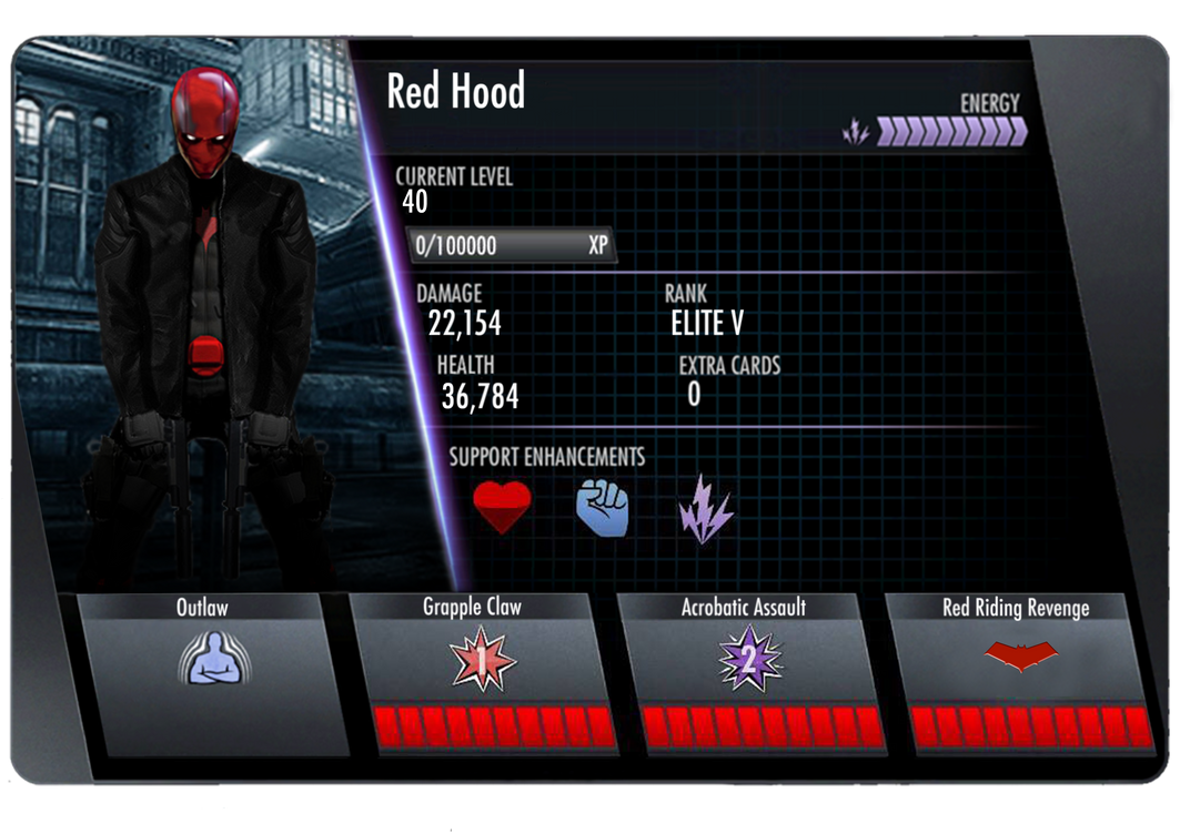 Red Hood Injustice Card (Back) by edrayed on DeviantArt