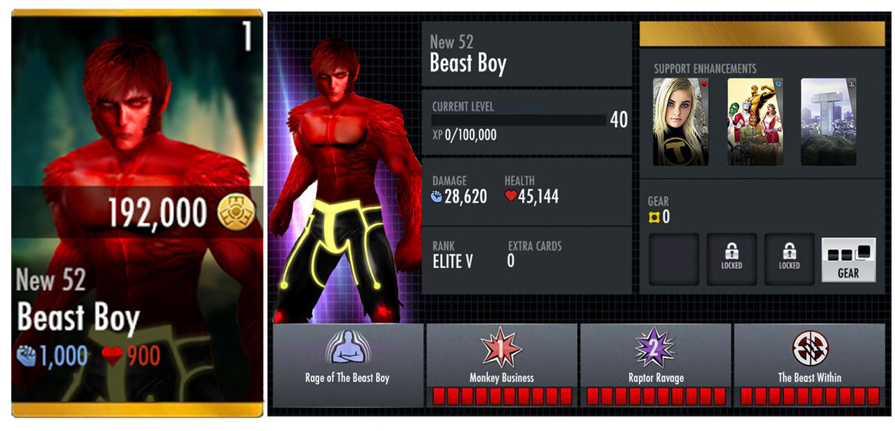 Beast Boy New 52 Injustice Card By Edrayed