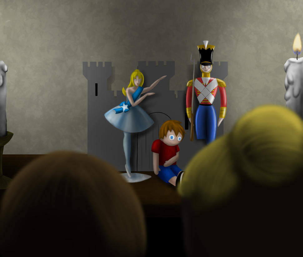 (Request) The Soldier, The Ballerina, and The Boy by TheGreyPersona