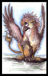 Cutesy Griffin by RavenWings