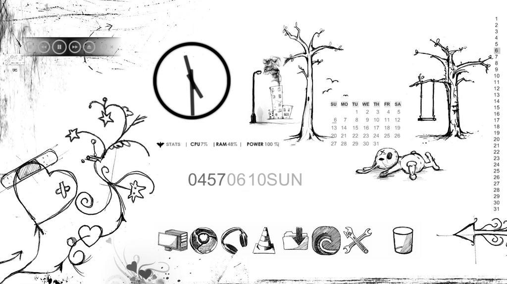 Sketch B W Windows 7 By Nuckinfaughty On Deviantart