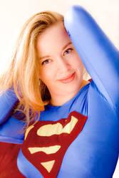 Supergirl - Angel on white... by ladynoelle