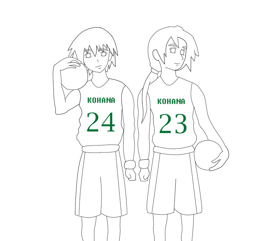 Uchiha Twins Bball Lineart by ch3rryb3rry101
