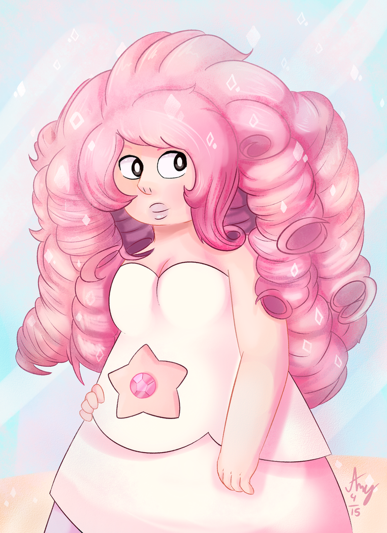 I never drew for rose for a while ever since I found about Steven Universe hence my very first SU fanart , I guess there's no improvement bleh But drawing this precious is so much fun and PINK...