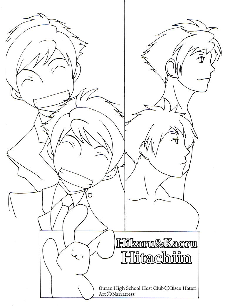 ouran highschool coloring pages - photo#47