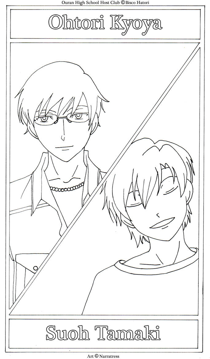 ouran highschool coloring pages - photo#41