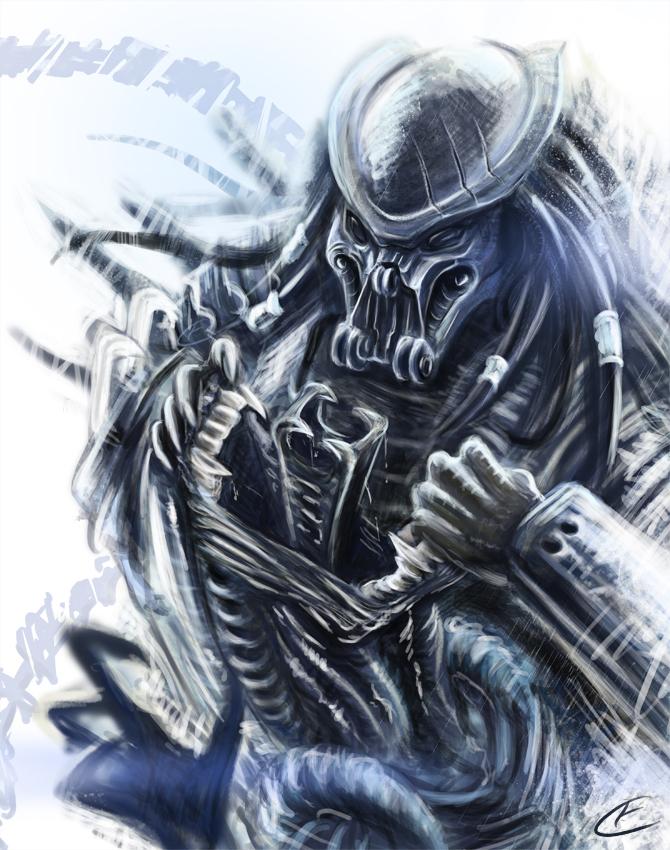 how to draw alien vs predator