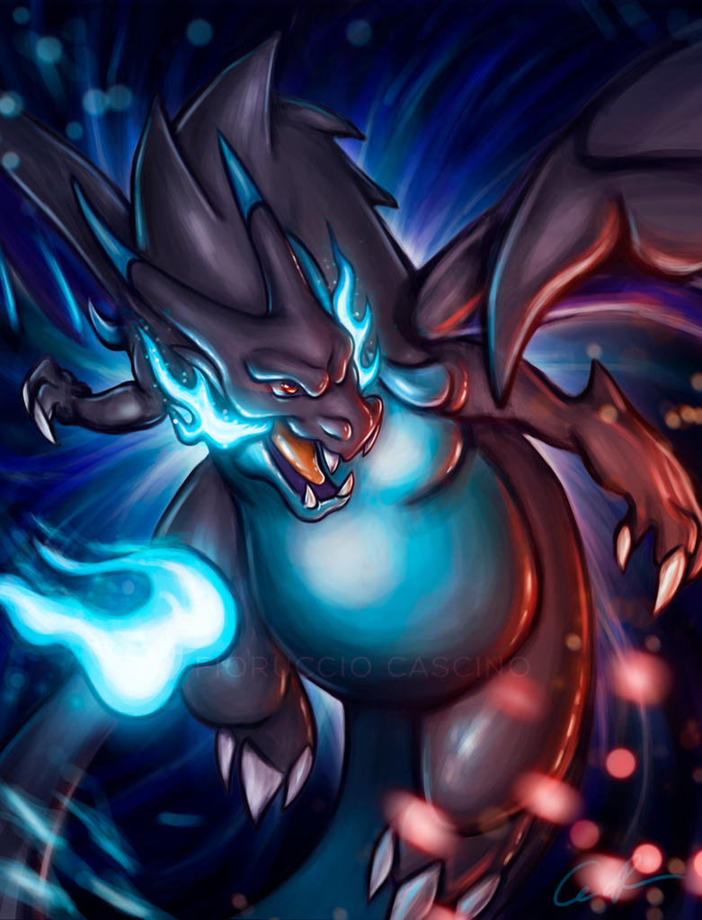 Mega charizard x fanart by gallardose on deviantart - Pokemon dracaufeu x ...