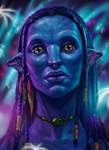 Neytiri Avatar Portrait by Gallardose