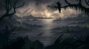 Landscape Swamp  study
