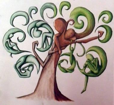 Family Tree Paint by Xandu-San
