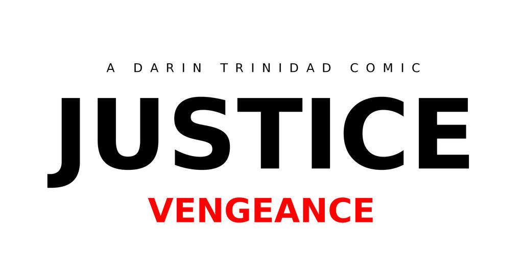 Justice: Vengeance Logo WHITE by DTrinidad