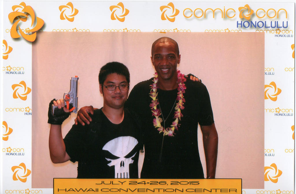Me with J. August Richards by DTrinidad