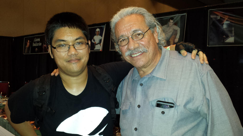 Me with Edward Olmos by DTrinidad