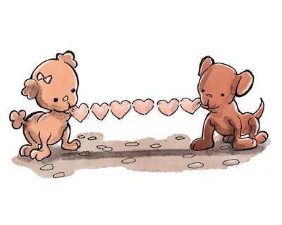 Puppy Hearts by RobertNat