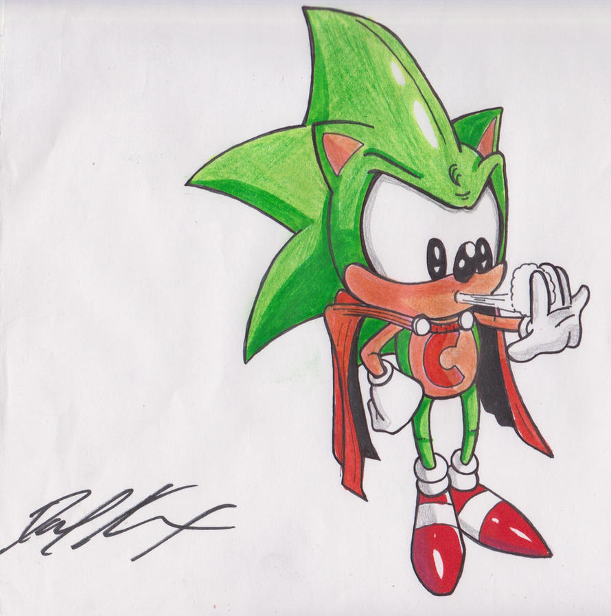 Cosmic The Hedgehog Colored by 1BetaOne