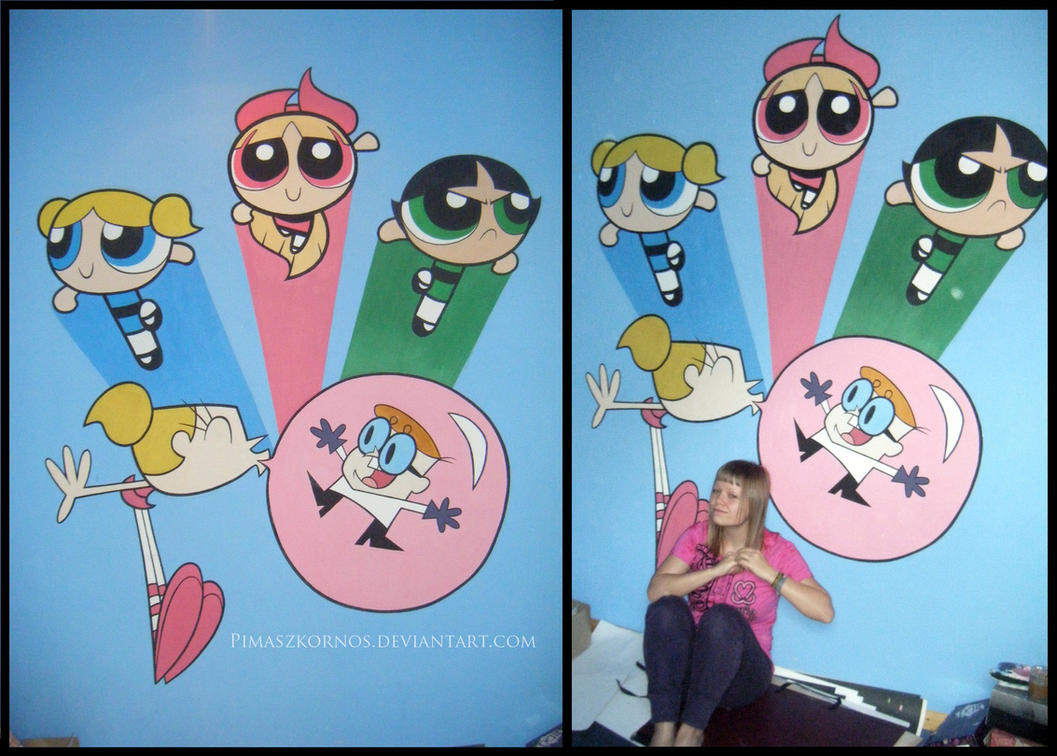 ppg and dexter u0027s lab on a wall by pimaszkornos on deviantart