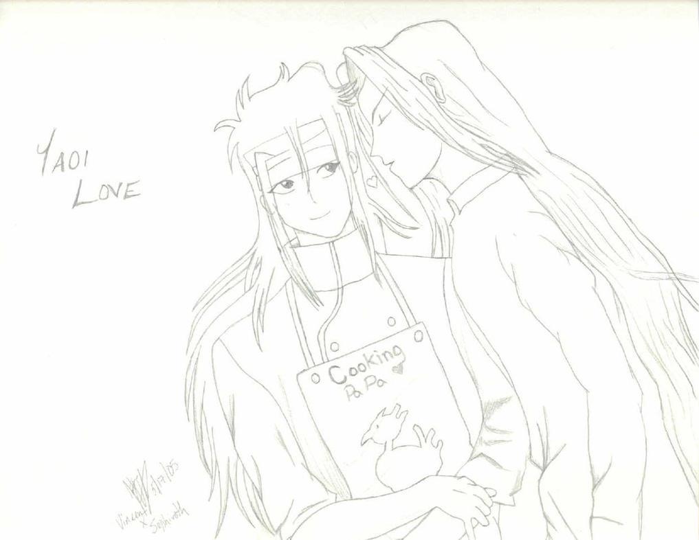Shonen-ai Sephiroth x Vincent by DarkFetisha