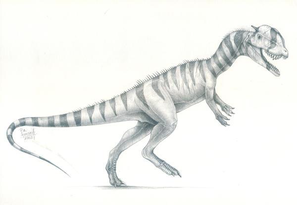 Dilophosaurus DrawingDilophosaurus Drawing