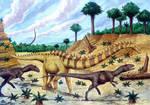 Barosaurus and Allosaurs