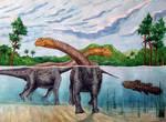 Swimming sauropods