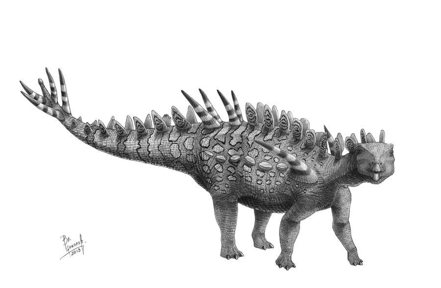 Huayangosaurus taibaii by T-PEKC