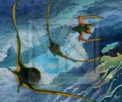 Crepuscular maneuvers - Anurognathus ammoni by T-PEKC