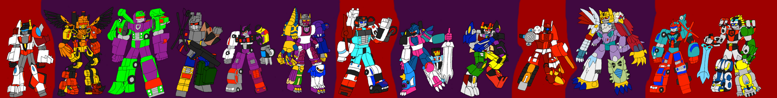 All Combiners, Second Coming by InvaderToum