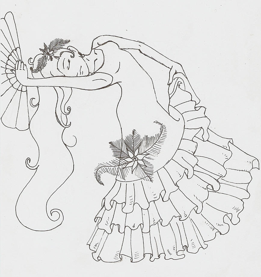 coloring pages flamenco dancers - photo#33