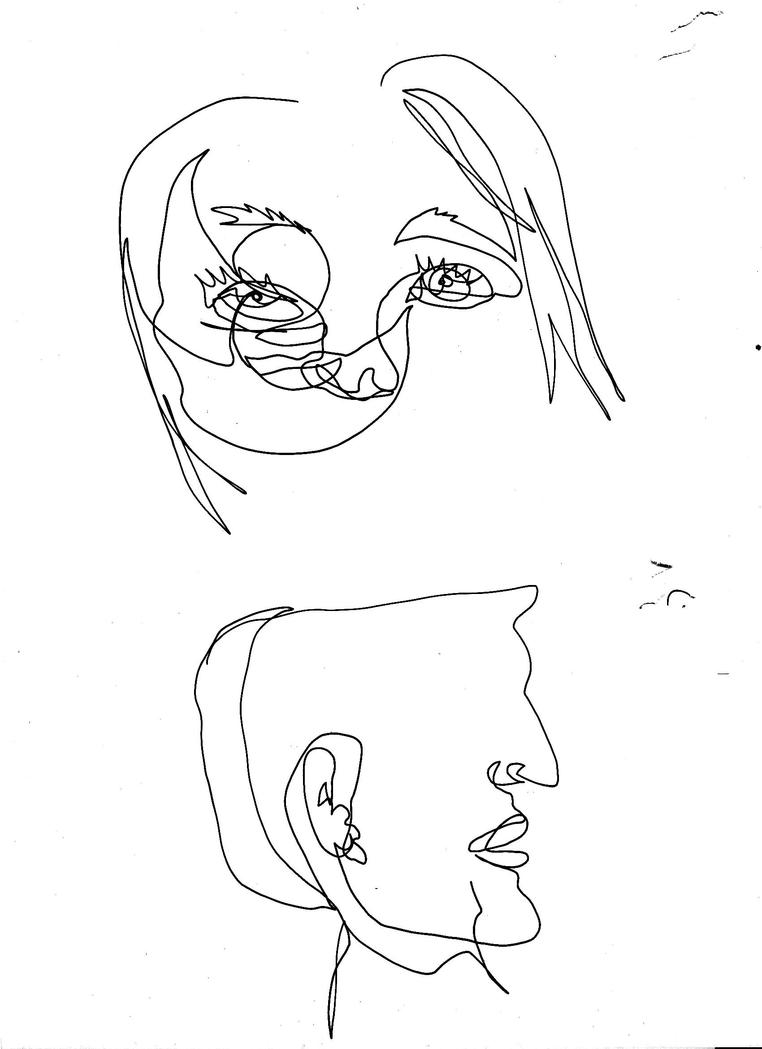 Contour Line Drawing Figure : Contour line drawing by haileyedwards on deviantart