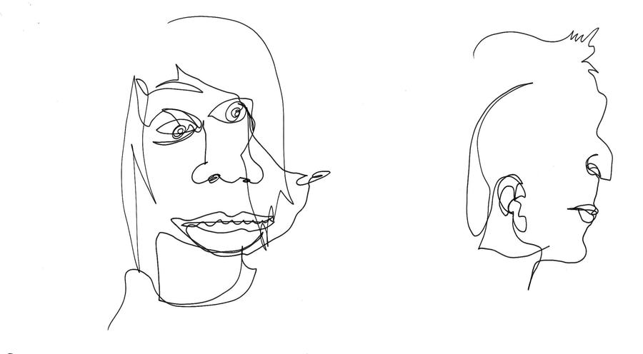 Line Drawing Portrait Tumblr : Contour line drawing by haileyedwards on deviantart