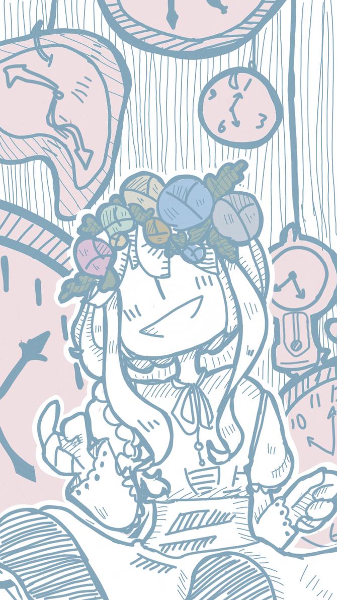 Lady of the clocks by justarandomfruit