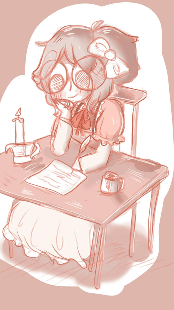Writing letters by justarandomfruit