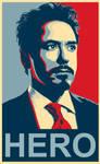 Tony Stark HERO Poster