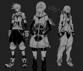 KH - Older Sora, Kairi and Riku by Rousteinire