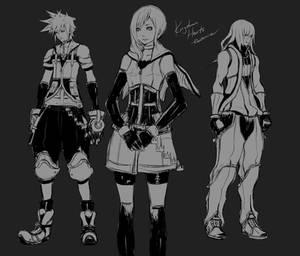 KH - Older Sora, Kairi and Riku