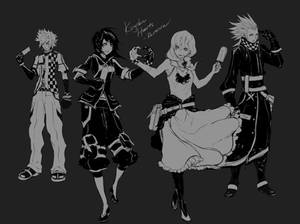 KH - Older Roxas, Xion, Namine and Axel