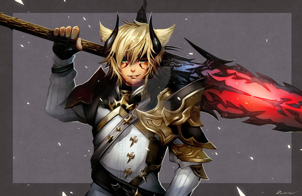 Commission - FFXIV Paladin by Rousteinire on DeviantArt