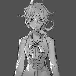 Sketch20190103 - The Promised Neverland Emma by Rousteinire